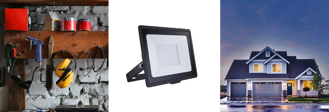 LED Floodlight schwarz online kaufen