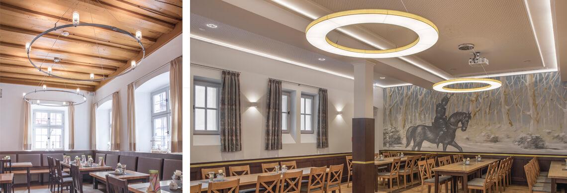 Lichtplanung für Speisesaal