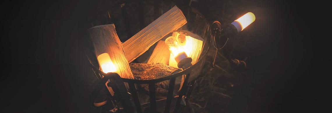 firelamp leuchtmittel mit feueroptik