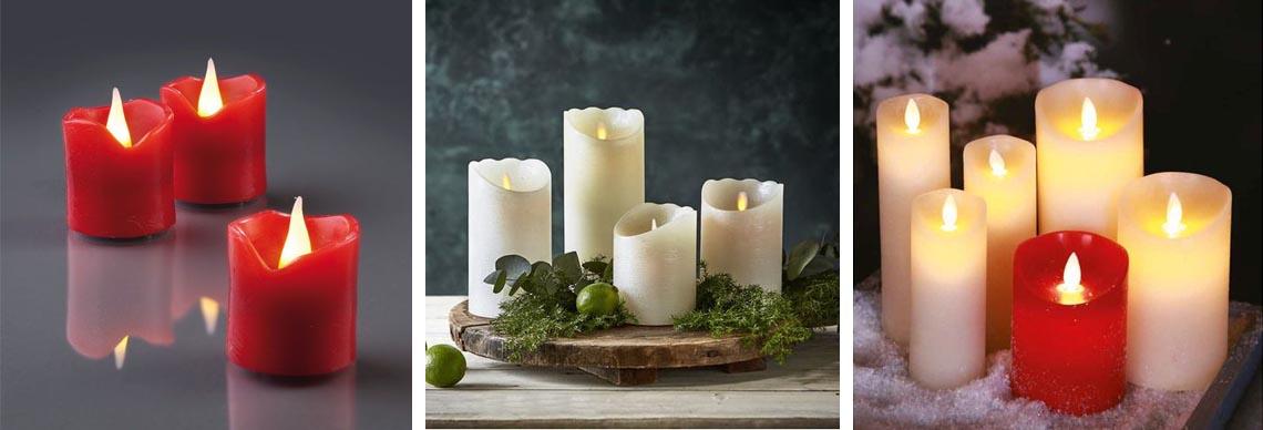 LED Kerzen mit beweglicher Flamme Outdoor
