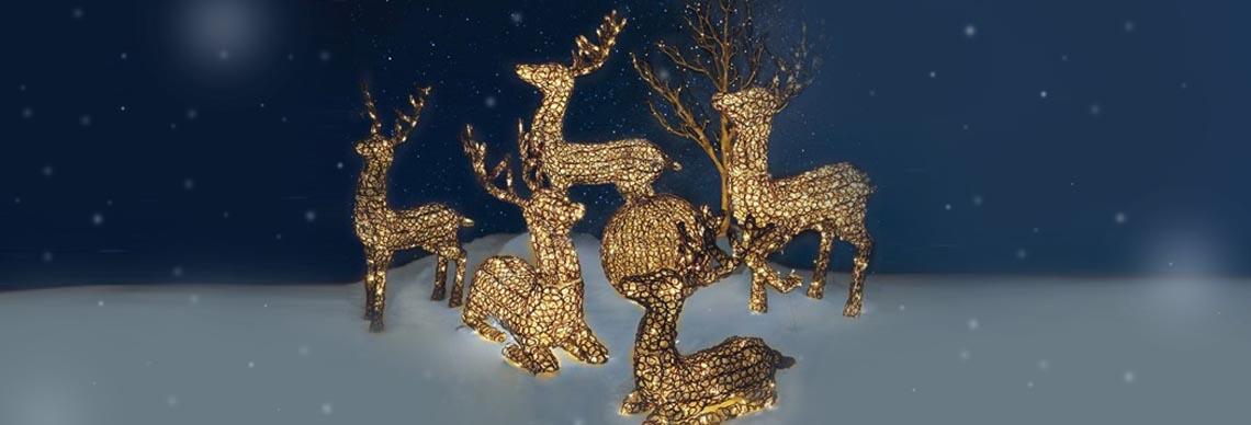 Deko Weihnachten Rentier leuchtend