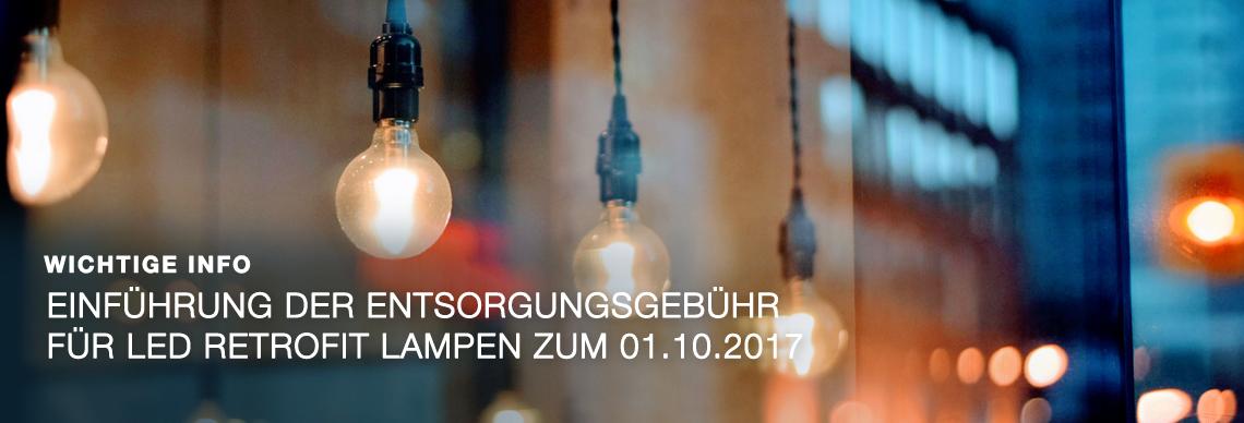 Entsorgungsbebühr für LED Retrofit Lampen